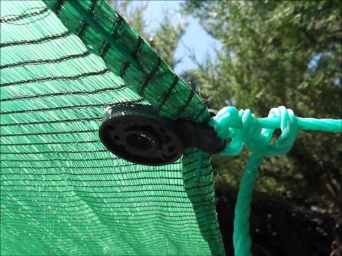 broche pinza gancho plástico media sombra cubre cerco