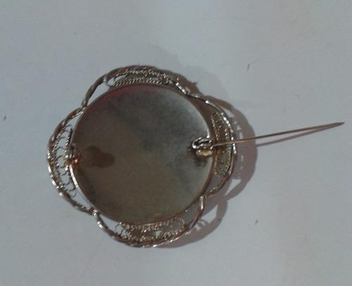 broche prendedor vintage damasquinado español