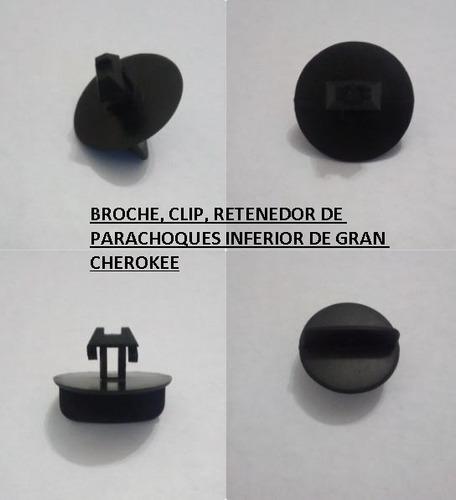 broche,clip,retenedor parachoques inferior grand cherokee