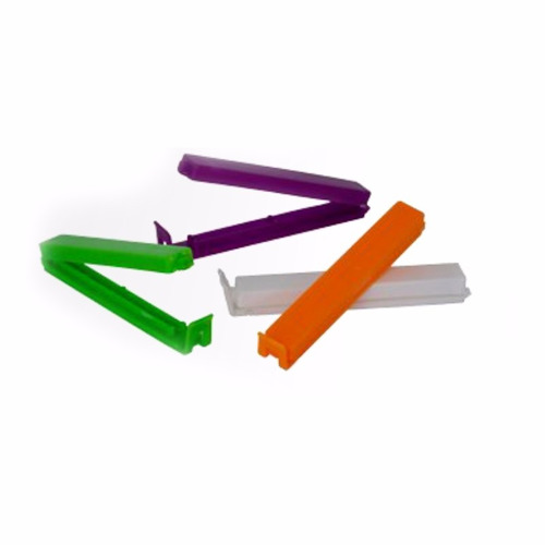 broches cierra bolsa x4 / clip paquete plastico metaltru