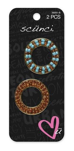 broches con adorno de circulos  scunci black 39091swmx