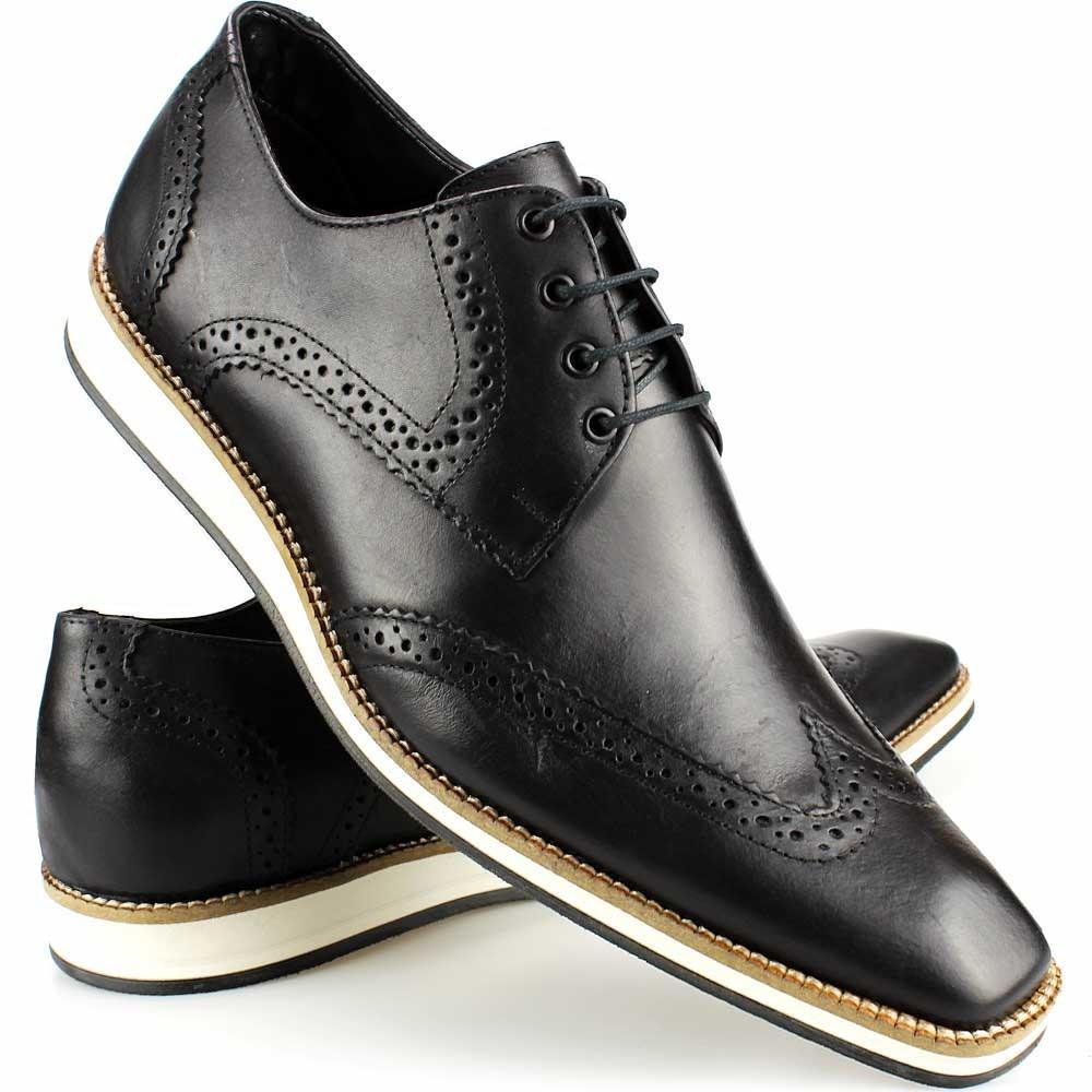 52e86c6f23 brogue sapato masculino oxford top side docksides couro. Carregando zoom.