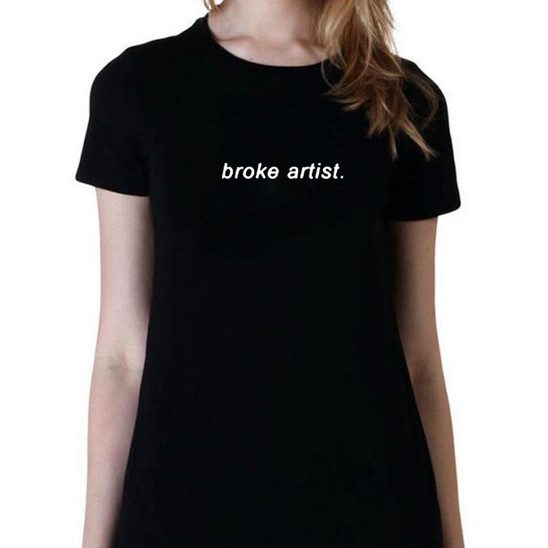 634dc1f75db105 Broke Artist T-shirt Mujeres Del Inconformista De Tumblr Top ...