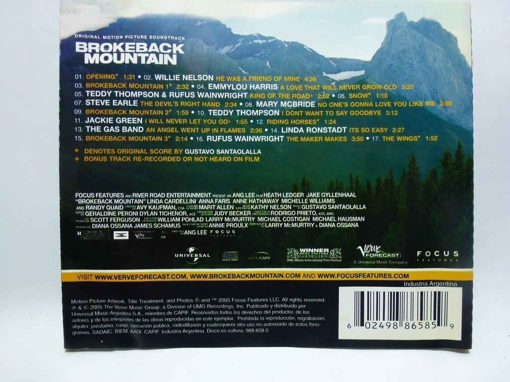 Brokeback Mountain Soundtrack Audio Cd En Caballito 130000