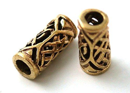 bronce nostálgico vikingos celta barba perlas anillos, enan
