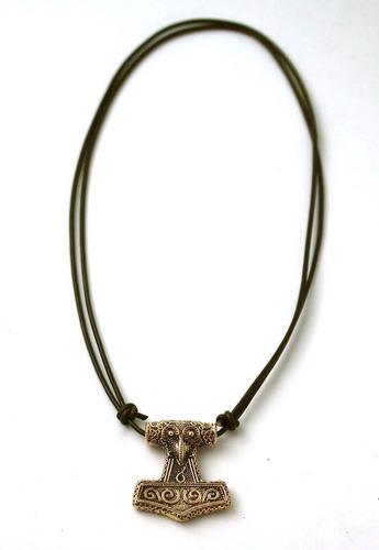 bronce viking cuervo cuervo odin thors hammer mjolnir colgan