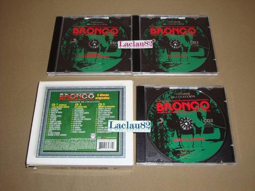 bronco tesoros de coleccion vol 1 - 2001 sony cd triple