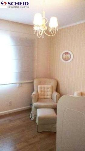 brooklin: apartamento com 120 m²: com 3 dormitórios s/1 suíte, 2 vagas. - mc3876