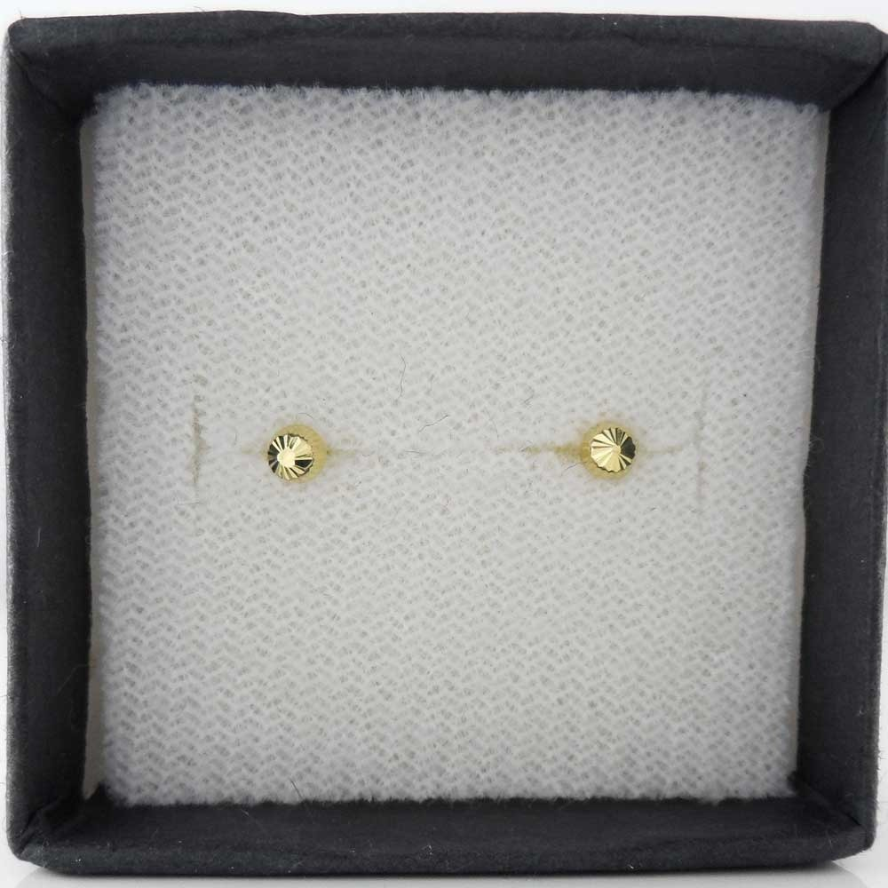 c205d083b8d2 Broquel Hongo Diamantado 3 Mm Para Bebe 10 K Brmx001 -   320.00 en ...