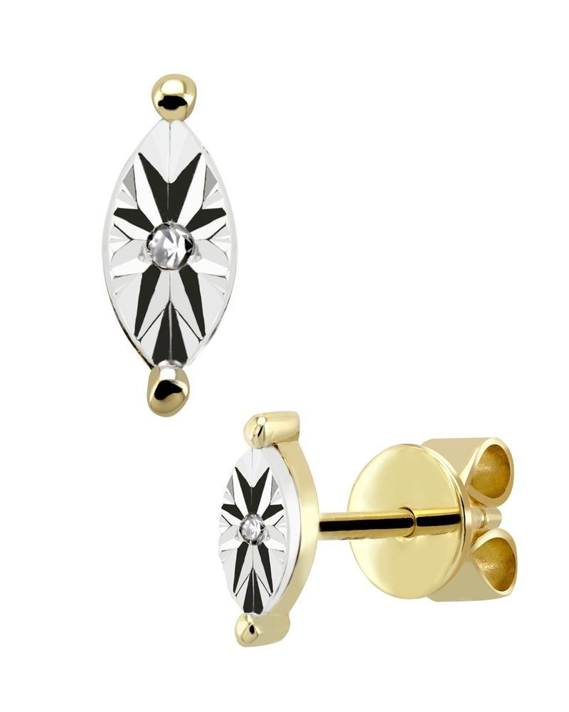 853f40419a84 broqueles de oro amarillo con 1 pt de diamante-17315wwd4yv. Cargando zoom.