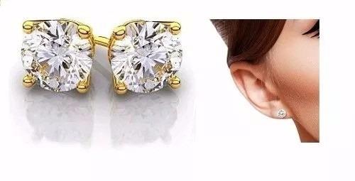 a1a5cce4c709 Broqueles Oro 10k Diamante Ruso 50pts De Lujo Envío Gratis ...