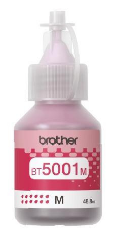 brother botella de tinta brother bt5001 magenta brothe tk025