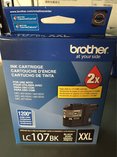 brother lc107bk lc107 lc-107 xxl j4310 j4410 j4510 original