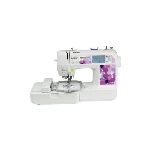 brother - máquina de bordar - blanco / púrpura