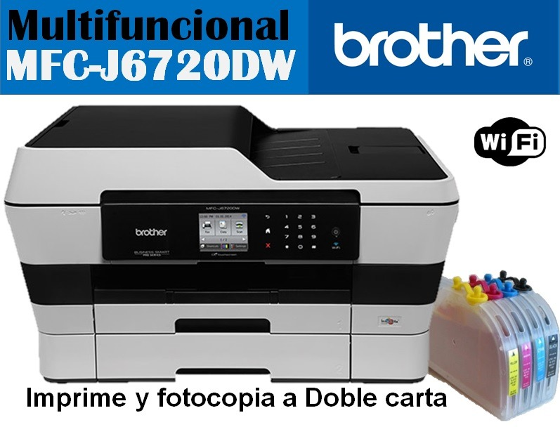 Brother Mfc J6720dw Doble Carta C Sistema De Tinta