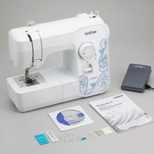 brother sewing rlx3817 - máquina reacondicionada, tamaño