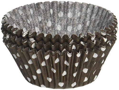 brown polka dot baking cups engrase 500 pack