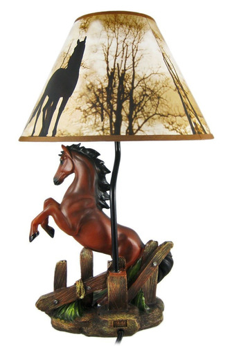 Brown stallion horse table lamp w nature print shade 234432 brown stallion horse table lamp w nature print shade aloadofball Gallery