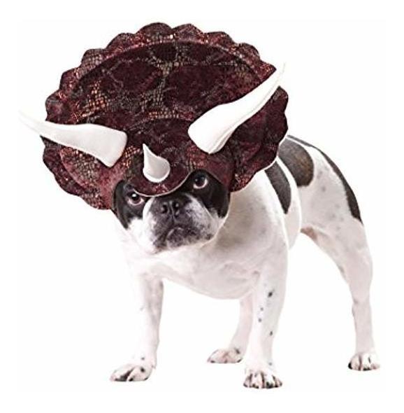 marrón_triceratops Dog Costume Mediano Importado