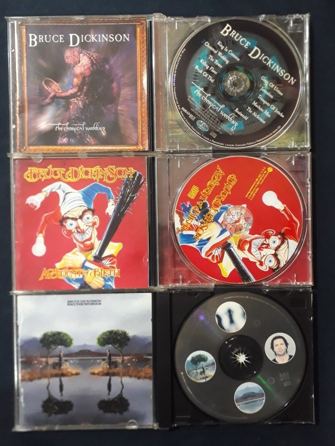 Bruce Dickinson Lote 3 Cds Accident Chemical Skunkworks