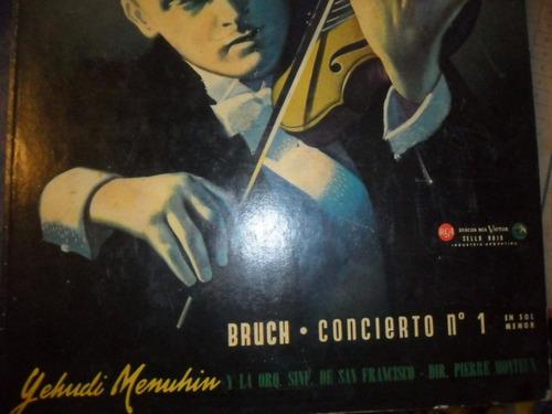 bruch concierto nro1 :3 lp