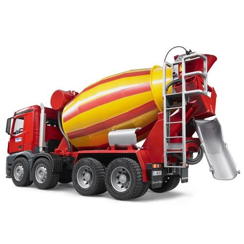 bruder-caminhão betoneira mercedes benz arocs 3654