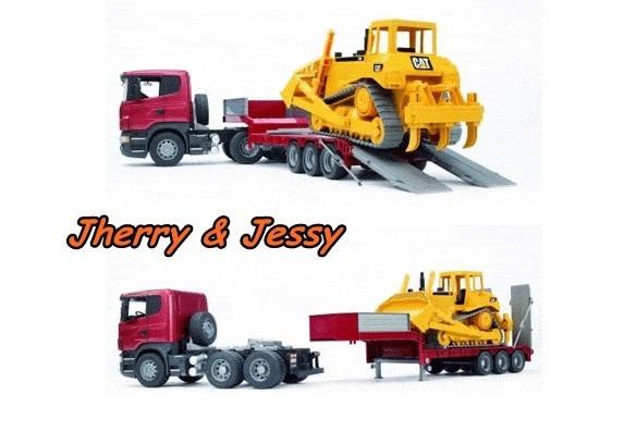 Bruder Toys Bruder Mack Granite Flatbed Truck W Jcb