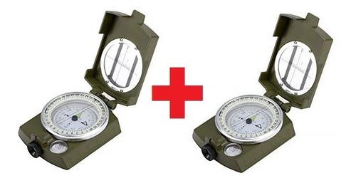 brujula profesional x2 militar tactica lux - hiking outdoor