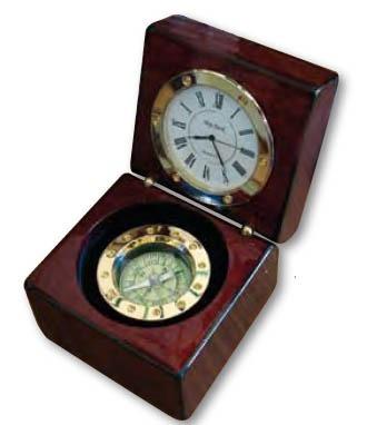 brujula reloj madera fluido madera metal regalo empresarial