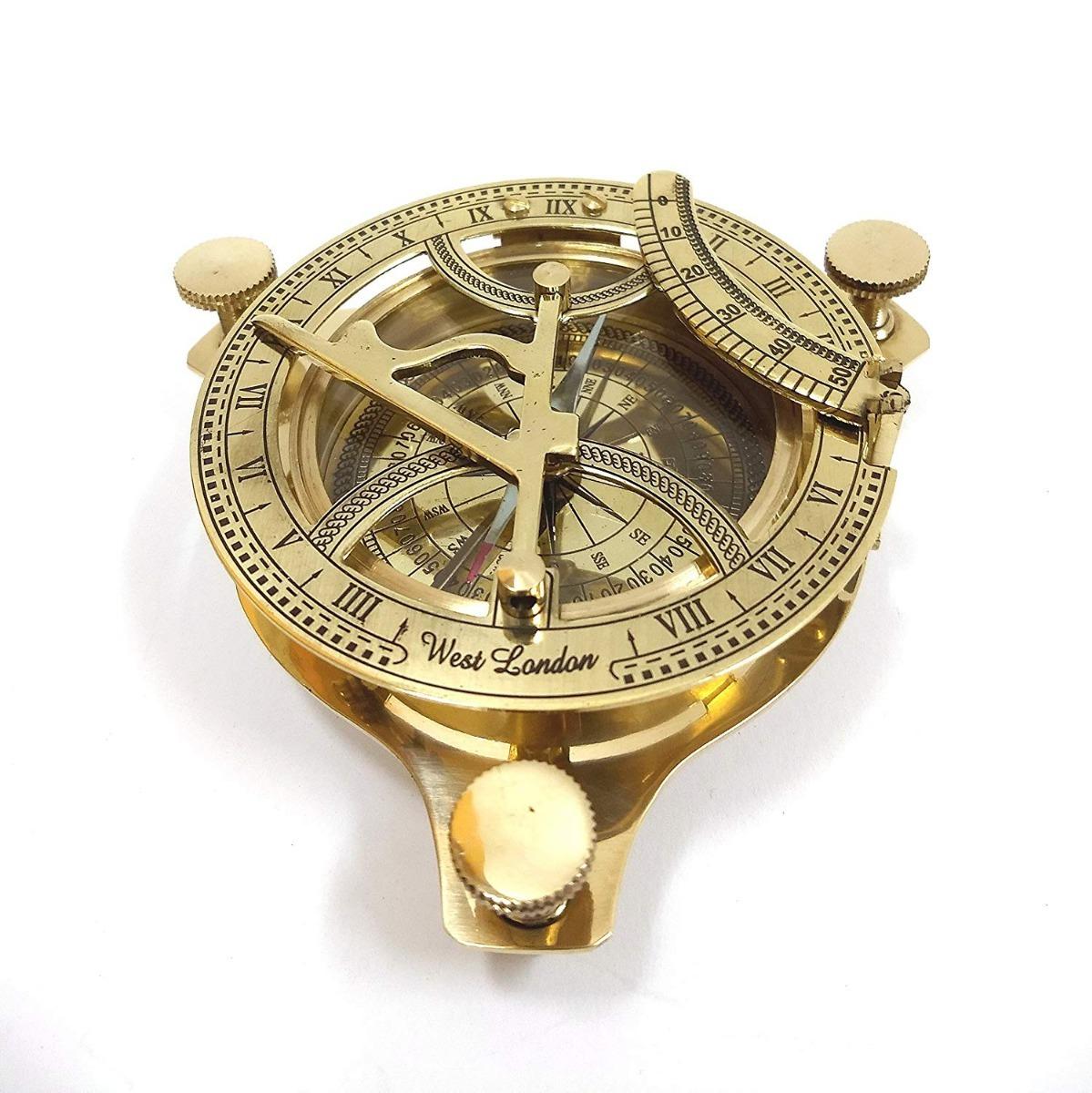8f9707f9b29d brújula reloj solar náutico antiguo vintage 2019 bronce. Cargando zoom.