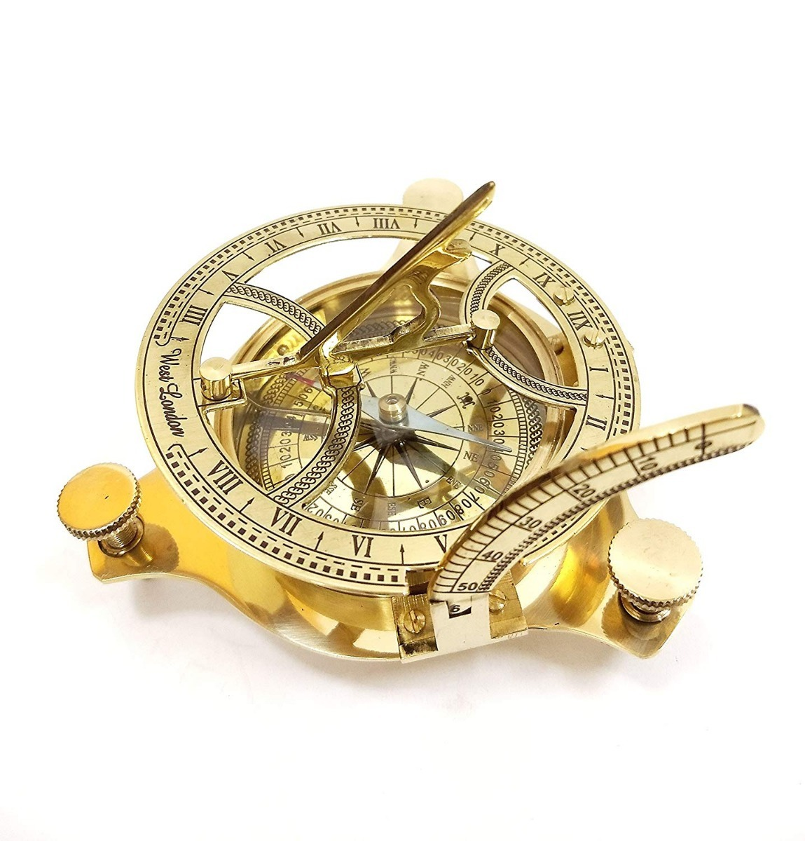 cf7c50122f2c brújula reloj solar titanic náutico antiguo vintage bronce. Cargando zoom.