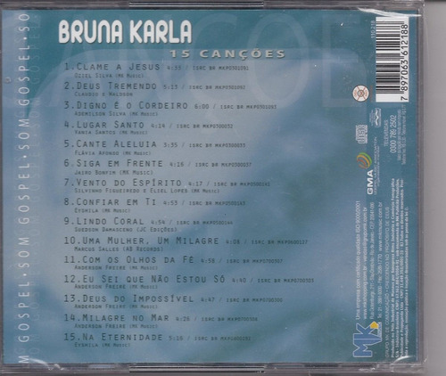 bruna karla - som gospel (acrílico) - cd mk music