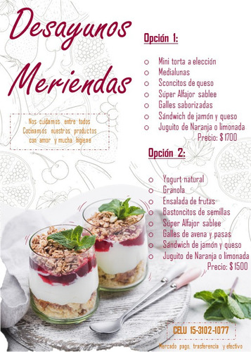 brunch - merienda - desayuno
