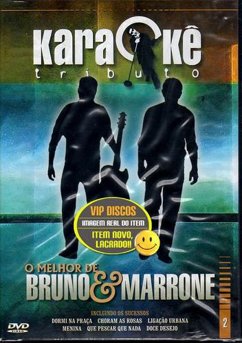 bruno e marrone dvd karaokê tributo - raro