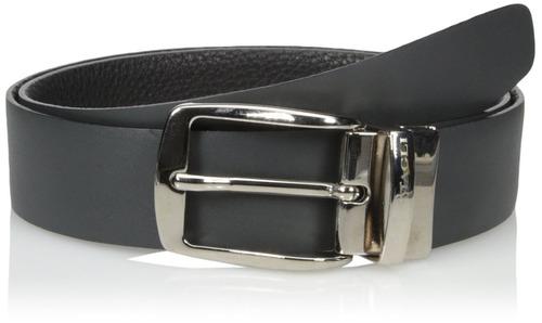 bruno magli cinturón bicolor para hombre, negro, 36