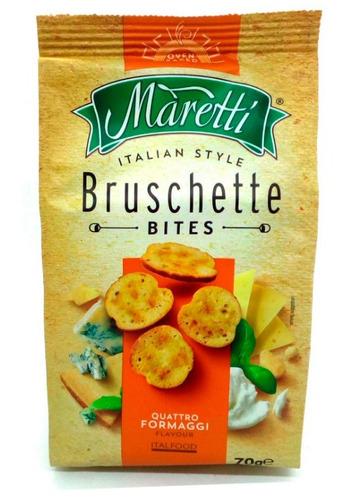 bruschettas maretti 70 gr tostadas italianas 3 sabores