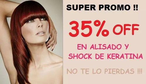 brushing progresivo + shock de keratina con un 35% de des.