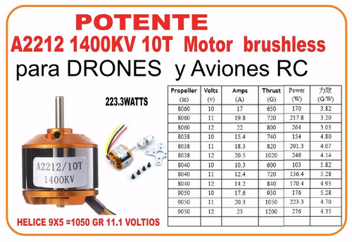 brushless 2212  motores