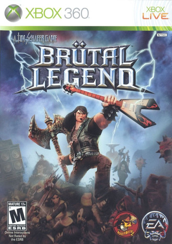 brutal legends  -  xbox 360 - usado