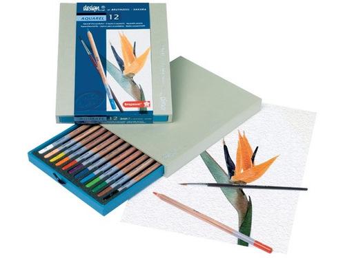 bruynzeel mama lapices de color acuarelable x12 caja madera