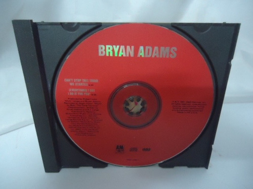 bryan adams - cd single - (everything i do) i do it for you
