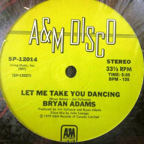 bryan adams - let me take you dancing single lp imp de usa
