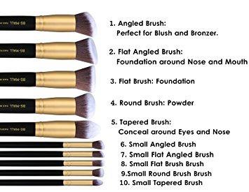bs-mall (tm) el maquillaje cepilla el cepillo del maquilla