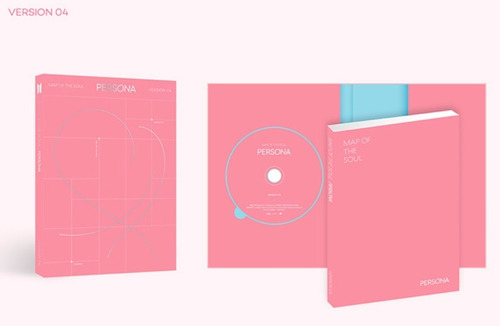 bts album kpop map of the soul persona version 4 + poster