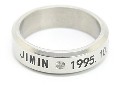 bts anillo acero inoxidable titanio jimin kpop coreano