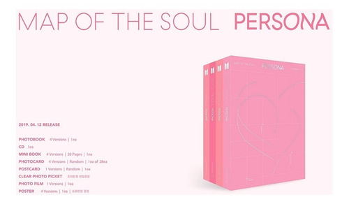 bts kpop album map of the soul: persona original - c/ poster