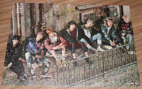 bts you never wa ver right album + póster oficial tubo kpop