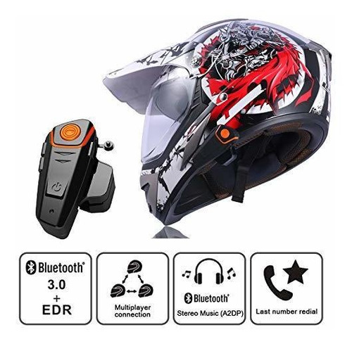 bts2 casco de motocicleta con bluetooth, auriculares de comu