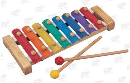 bu-0541 mi primer xilófono madera 8 notas 3 piezas biyu