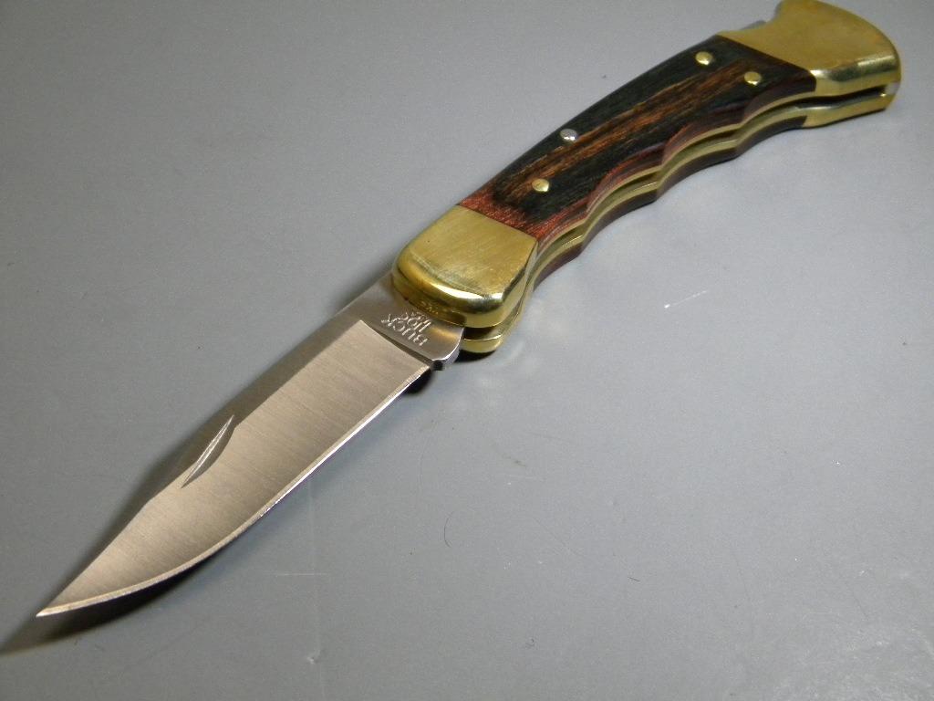 Bu110fg buck 110 folding hunter navaja fg ca madera c fd 2 en mercado libre - Navajas buenas ...